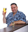 Man having a beer Stock Photo