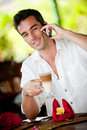 Man Having Coffee Royalty Free Stock Photos