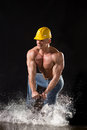 Man in a helmet Stock Images