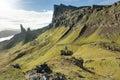 Man hiking through Scottish Highlands Royalty Free Stock Photo