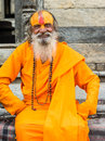 Man hinduism a of religion Stock Photo