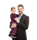 Man with his baby Stock Images