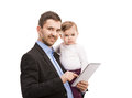 Man with his baby Royalty Free Stock Image