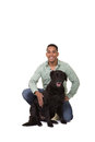 A man and his dog Royalty Free Stock Photo