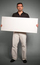 Man holding blank message board Stock Photography