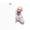 Man holding blank sign or placard Stock Photography