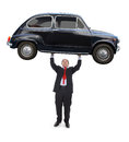 Man holding a car Royalty Free Stock Photo