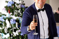 Man holding champagne at the party. Royalty Free Stock Photo