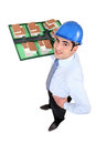 Man holding model of housing Stock Photo