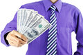Man holding money close up of businessman Royalty Free Stock Photos