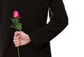 Man holding a rose Royalty Free Stock Photo
