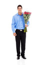 Man holding roses Stock Photography