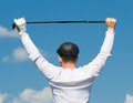 man holding a thing for golf Royalty Free Stock Photo