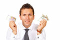 Man holds money Stock Photo