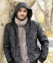 Man with hood Royalty Free Stock Photo
