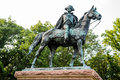 A Man and Horse Statue Royalty Free Stock Photo
