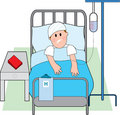 Man in Hospital Bed Stock Photos