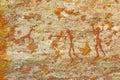 Man hunting bushman's ancient wall artwork Royalty Free Stock Photo