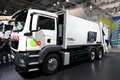 MAN hybrid Garbage Collection Truck Royalty Free Stock Photography