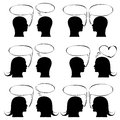 Man icon with speech bubble set illustration sketch vector Royalty Free Stock Image