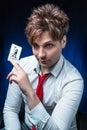 Man illusionist Royalty Free Stock Photo
