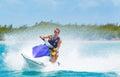 Man on Jet Ski Royalty Free Stock Photo