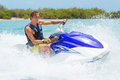 Man on Jet Ski Royalty Free Stock Photo