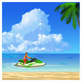 Man on the jet ski Royalty Free Stock Photo