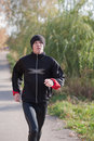 Man jogging in park Stock Images
