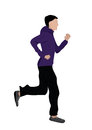 Man jogging vector illustration of Stock Photo