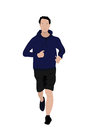 Man jogging vector illustration of a young Stock Image