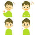 Man joyful angry weep expressions weeping tearful face file Stock Images