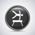 Man jumping icon. Sport design. Vector graphic