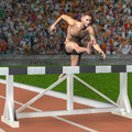 Man jumps over a hurdle Royalty Free Stock Photography