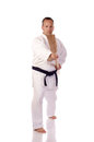 Man karate gi holding kai Stock Photo