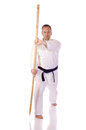 Man karate gi holding kai Royalty Free Stock Photos