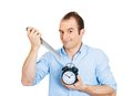 Man killing time Stock Photo