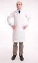 Man in lab coat Royalty Free Stock Photo
