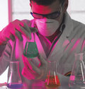 Man in the laboratory Stock Photos