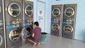Man with laundry Royalty Free Stock Photo