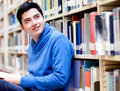 Man at the library Stock Photography
