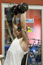 Man lifting weights Royalty Free Stock Photography