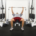 Man lifting weights Stock Photo