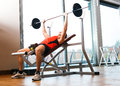 Man lifting yoke fitness club Stock Photo