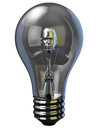 Man in light bulb a digital bust concept of working on idea Royalty Free Stock Photos