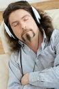 Man listening music Royalty Free Stock Photo