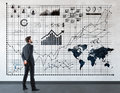 Man looking at diagrams