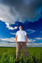 Man looking far away Royalty Free Stock Images
