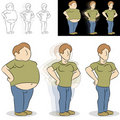 Man Losing Weight Transformation Royalty Free Stock Images