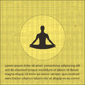 A man in the lotus position on a textural background. yoga icon Royalty Free Stock Photo